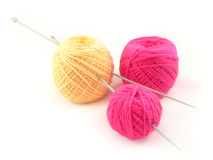 Threads and spokes for knitting Royalty Free Stock Photos
