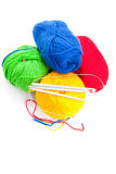 Threads and spokes for knitting Stock Image
