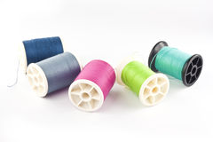 Threads in spools Royalty Free Stock Photo