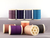 Threads in spools Stock Image