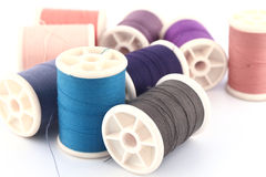 Threads in spools Stock Photo
