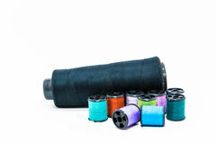 Threads on white background Royalty Free Stock Images