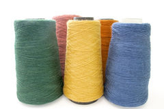 Threads and yarns isolated on a white Royalty Free Stock Photography