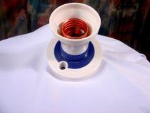 Thready lamphållare Arkivbild