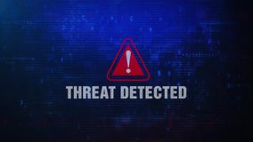 Threat Detected Alert Warning Error Message Blinking on Screen .