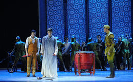 Threatened stress-The third act of dance drama-Shawan events of the past. Guangdong Shawan Town is the hometown of ballet music, the past focuses on the Stock Image