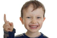Threatening child Stock Image