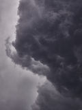 Threatening clouds. During a thunderstorm just before the rain starts Royalty Free Stock Images