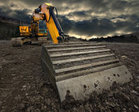 Threatening excavator Royalty Free Stock Photo