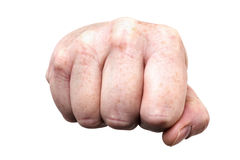 Threatening fist Royalty Free Stock Photography