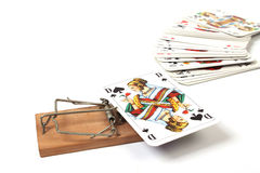Threatening Mousetrap Stock Photos