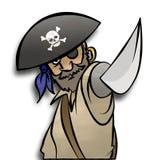 Threatening Pirate. A cartoon pirate threatening you with his cutlass Stock Photo