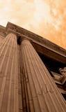 Threatening Sky Over Bank Stock Image