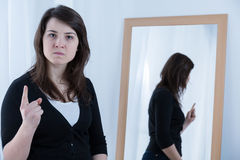 Threatening woman Royalty Free Stock Photography