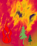 Threats: forest fires Stock Photo