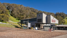 THREDBO, AUSTRALIA - DECEMBER 20, 2014: The center of Thredbo on Stock Photos