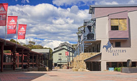 THREDBO, AUSTRALIA - DECEMBER 20, 2014: The center of Thredbo on Stock Images