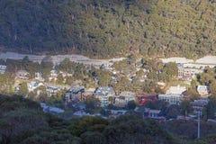 Thredbo Village viewed from above. Mount Kosciuszko National Par Stock Photos