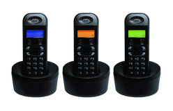 Three. Headsets with lcd screens Stock Images