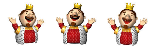 Three 3D kings Royalty Free Stock Images