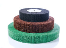 Three abrasive wheels Royalty Free Stock Photography
