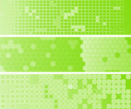 Three abstact green web banners Royalty Free Stock Photography