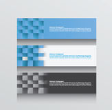 Three abstract background s in blue grey and white Royalty Free Stock Photo