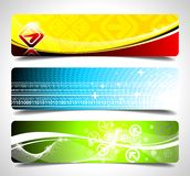 Three abstract  banner background Royalty Free Stock Photo