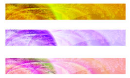 Three abstract banner Royalty Free Stock Photography