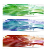 Three abstract banner Stock Photo