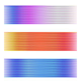 Three abstract banner Royalty Free Stock Images