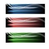 Three abstract banner Royalty Free Stock Photos