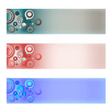 Three abstract banner Stock Photography