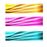 Three abstract banner Stock Image
