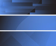 Three abstract banners Royalty Free Stock Photography