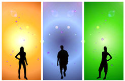 Three abstract banners Stock Photography