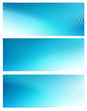 Three Abstract blue dot swirl Background Templates. Three Horizontal High Resolution Abstract soft blue graphic design background templates for Healthcare Royalty Free Stock Photo