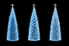Three abstract christmas tree different ornate Stock Image