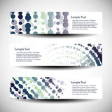 Three abstract header designs. Three Abstract Colorful Header Design Templates in Freely Scalable & Editable Vector Format Royalty Free Stock Photography