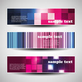 Three Abstract Header Designs Stock Photos