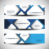 Three Abstract Header Designs Royalty Free Stock Photo