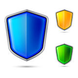 Three abstract shield Royalty Free Stock Photo