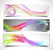Three abstract vector banner background.  Stock Photography