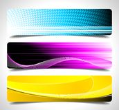 Three abstract vector banner background.  Royalty Free Stock Image