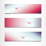 Three abstract vector business banner. Stock Image