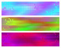 Three abstrct banners Stock Photo