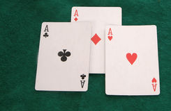 Three Aces Royalty Free Stock Photography