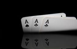 Three aces Stock Photo