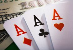 Three aces Stock Photos