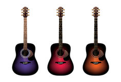 Three acoustic guitars  Royalty Free Stock Photo